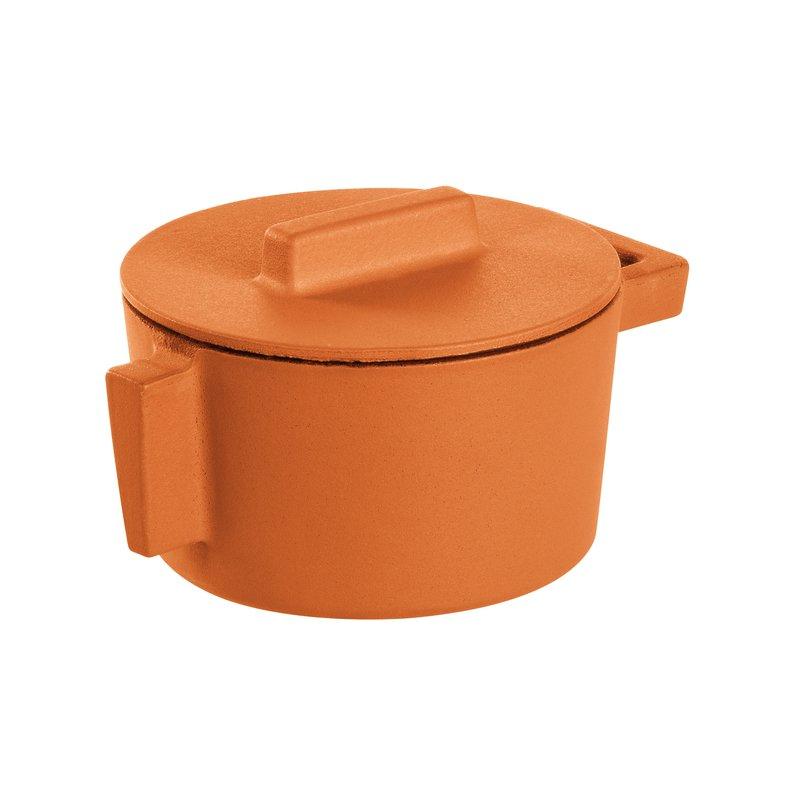 Mini casseruola 2 maniglie con coperchio - TerraCotto
