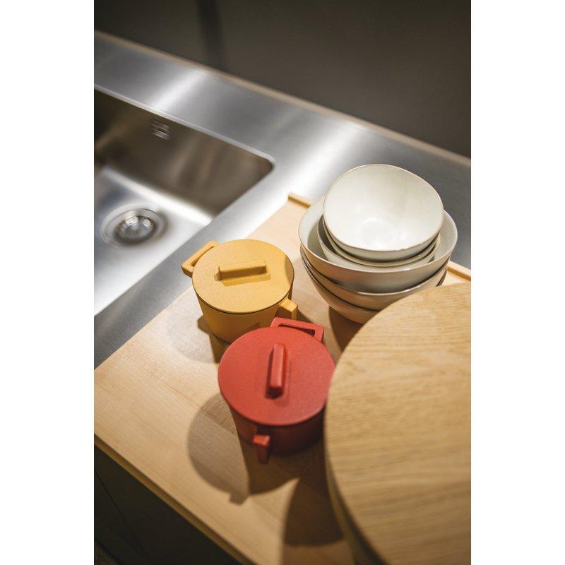 Mini casseruola 2 maniglie con coperchio - TerraCotto Cast iron