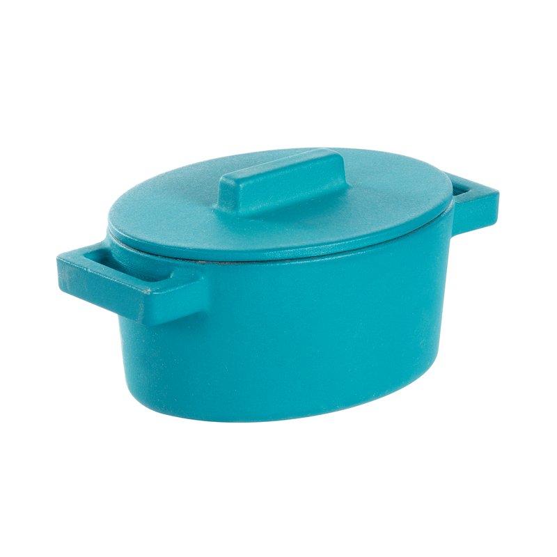 Mini casseruola ovale con coperchio - TerraCotto Cast iron