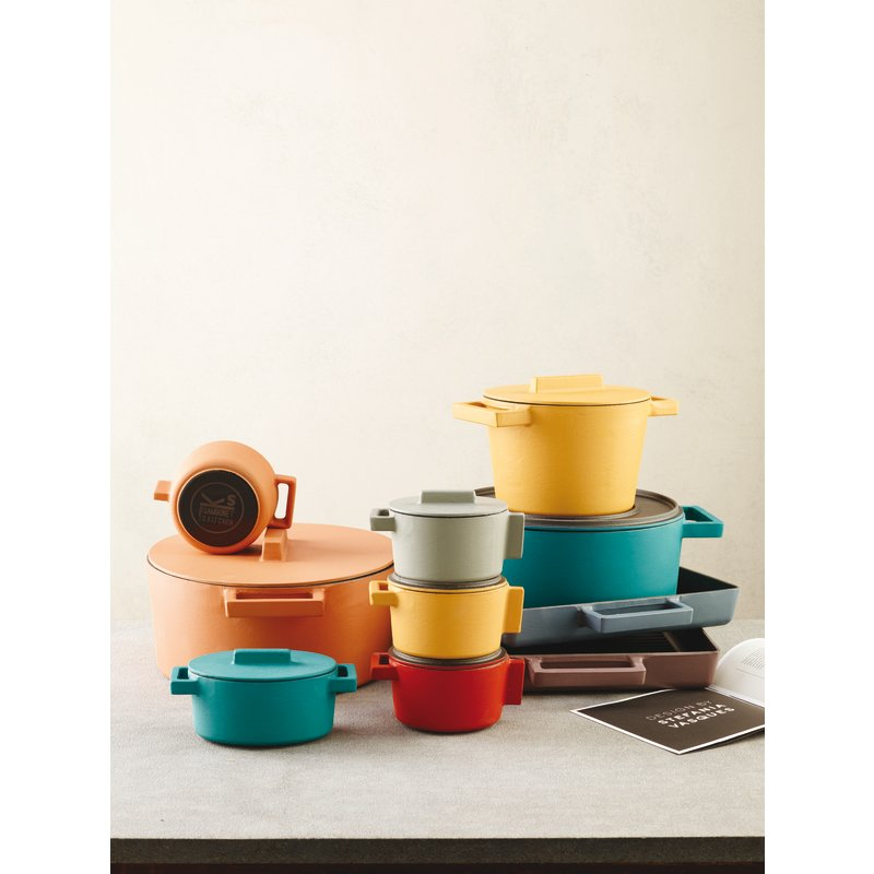 Mini oval saucepot with lid - TerraCotto