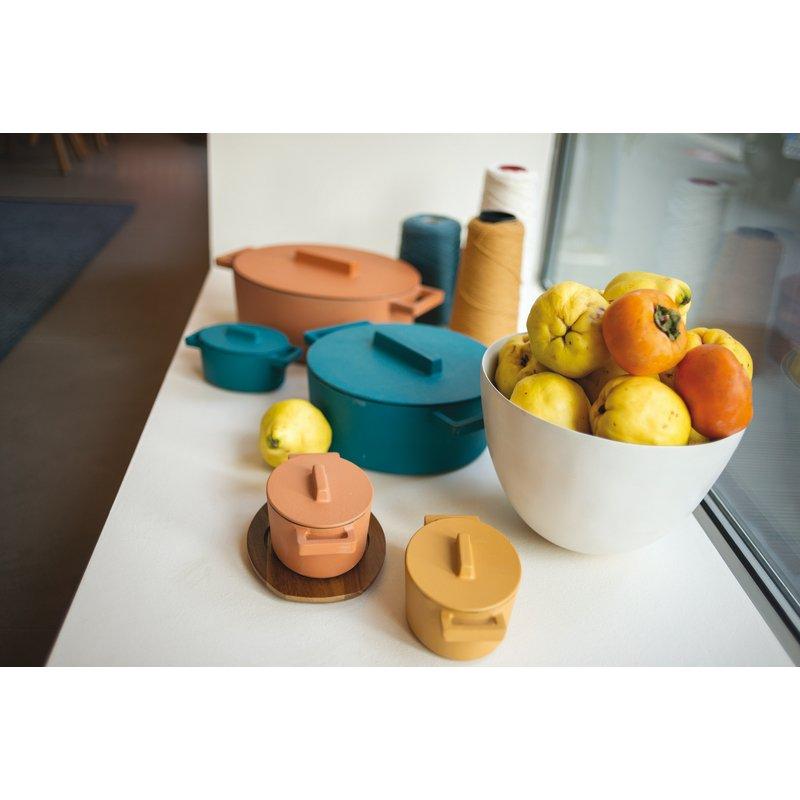 Mini casseruola ovale con coperchio - TerraCotto