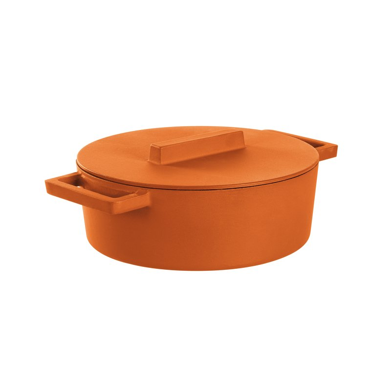 Oval saucepot with lid - TerraCotto