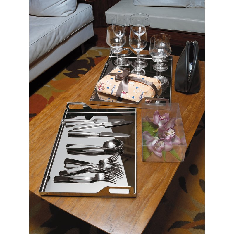 Coltello tavola, manico cavo orfèvre - Gio Ponti Conca
