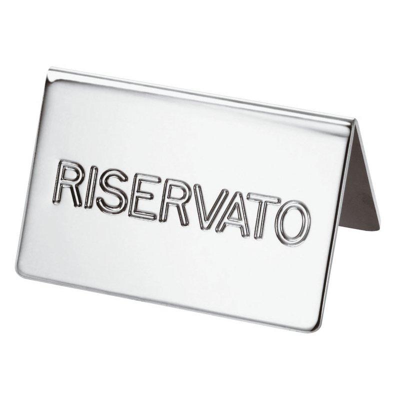 Targhetta tavola 'riservato' - Elite