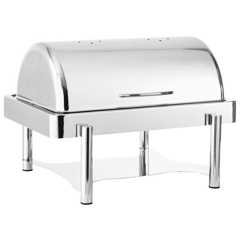 Chafing dish rectangular solid alcohol heating - Asia 2000