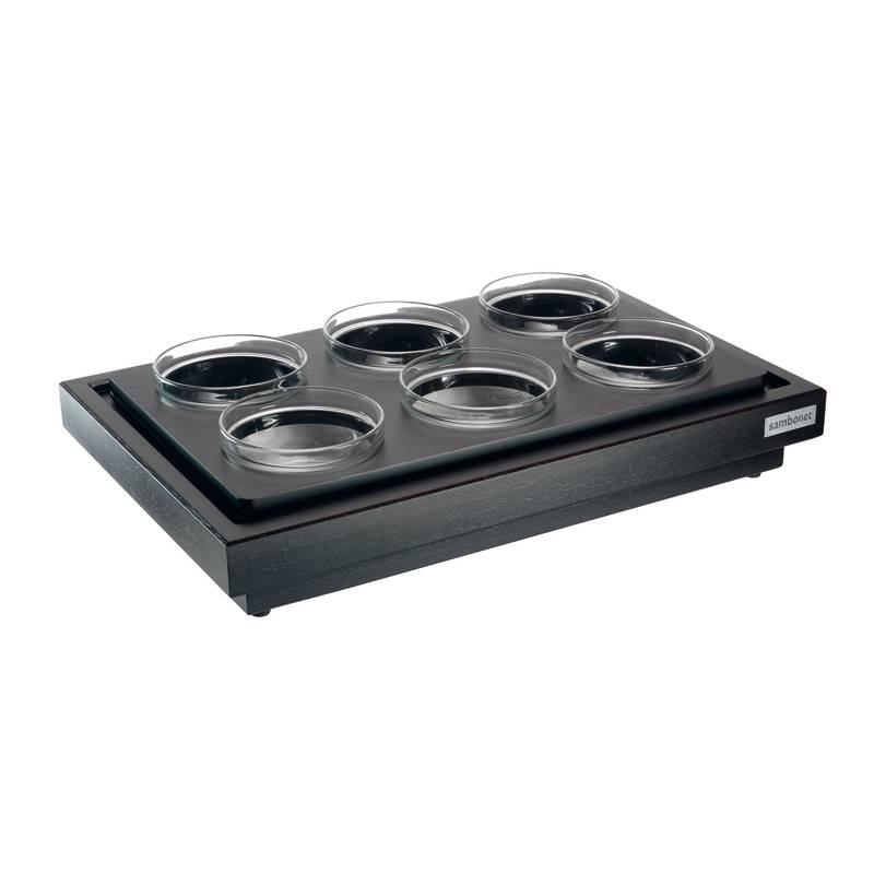 Vetrina refrigerata con modulo, 6 ciotole e coperchio - Italian Buffet
